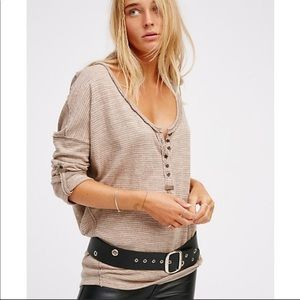 Free People Beach Haven Henley Tee